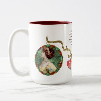 Miss Lily Elsie (Ceramic Mug) Two-Tone Coffee Mug