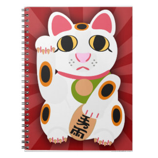 Miss Lucky Cat Notebook