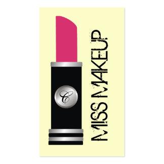 Miss Makeup Pink Business Card Template