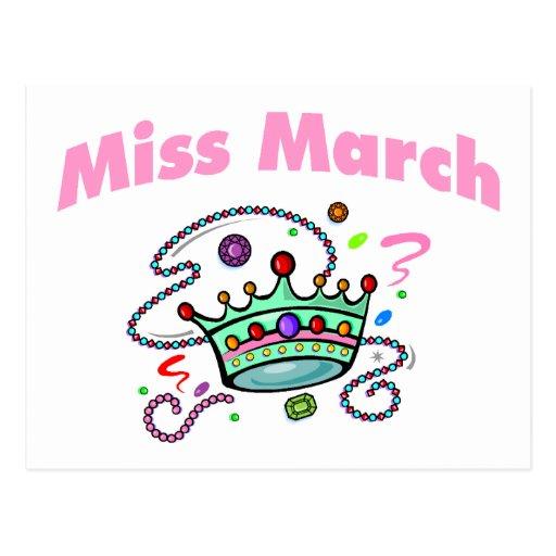 Miss March (2) Postcard
