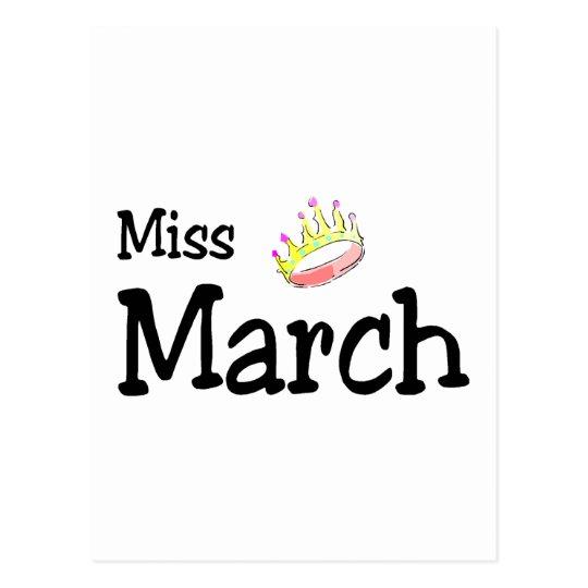 Miss March Postcard