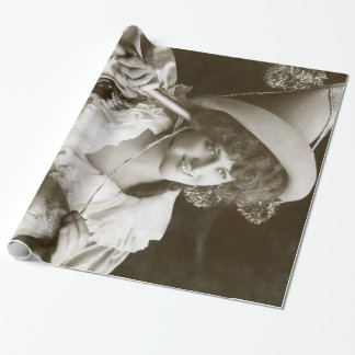 Miss Marie Studholme as Lady Madcap 1905 Wrapping Paper