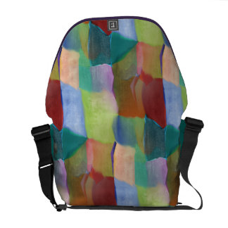Miss Mary Mack Artsy Abstract Colorful Hopscotch Commuter Bag