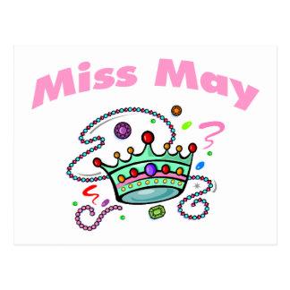 Miss May (2) Postcard