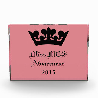 Miss MCS Awareness 2015 Recognition Award Trophy