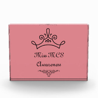 Miss MCS Awareness Pink Recognition Award Trophy