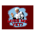 ¿Miss Me todavía? Camiseta de George W Bush Tarjetas Postales