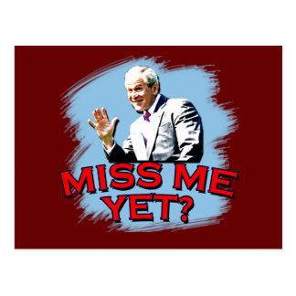 ¿Miss Me todavía? Camiseta de George W Bush Postal