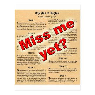 ¿Miss Me todavía? (Declaración de Derechos) Postales