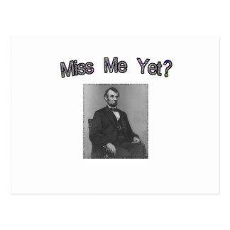 ¿Miss Me todavía?  Lincoln Postales