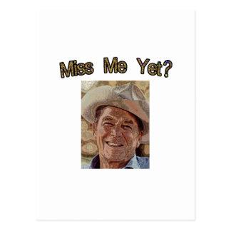 ¿Miss Me todavía?  Reagan (vaquero) Postales