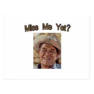 Miss Me Yet?  Reagan (Cowboy) Postcard