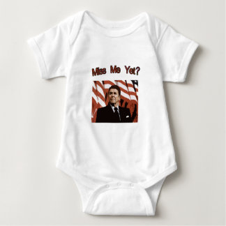Miss Me Yet?  Reagan Posterized Baby Bodysuit