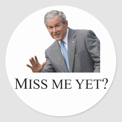 Miss Me Yet Square - White Round Sticker