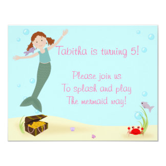 Miss Mermaid Party Invitation