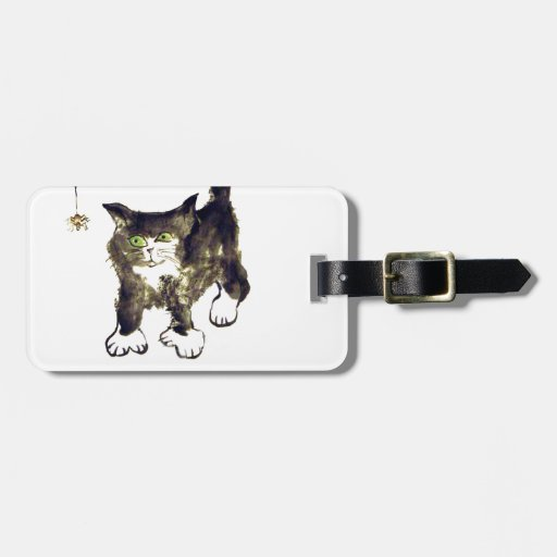 Miss Mittz C  and a Dangling Spider Travel Bag Tags
