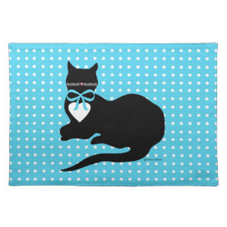 Miss Molly Blue Dot Placemat Cloth Place Mat