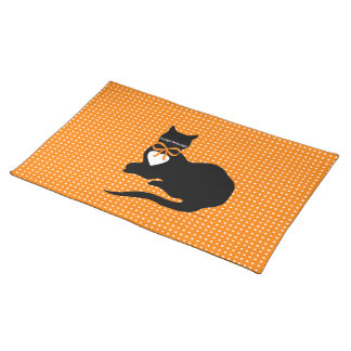 """Miss Molly"" Halloween Placemat Cloth Place Mat"