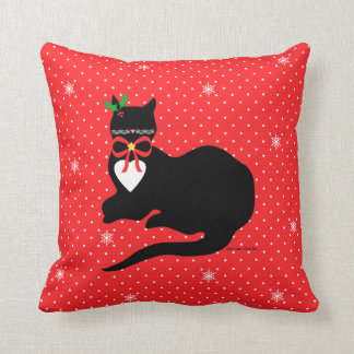 """""""Miss Molly"""" Holiday Throw Pillow"""
