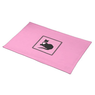 Miss Molly Solid Pink Placemat Cloth Place Mat