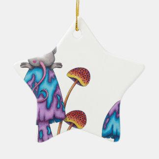 Miss Mouse -coloured Ceramic Ornament