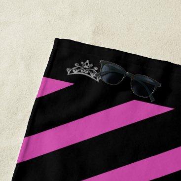 Beach Themed Miss Mrs. America USA Rodeo Crown Beach Towel