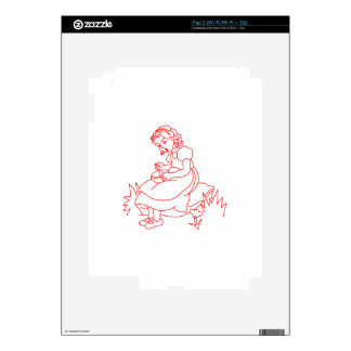 Miss Muffet Redwork Skin For The iPad 2