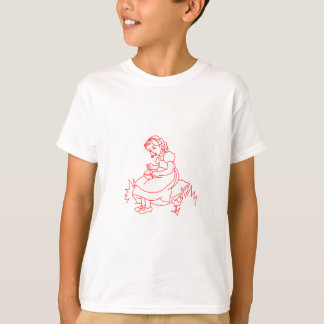 Miss Muffet Redwork T-Shirt