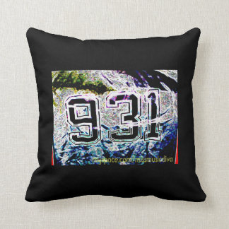 MISS MUSIC AREA CODE 931-BLK/SILVER/BLUE/RED THROW PILLOWS