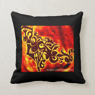 MISS MUSIC LOVE PILLOW-BLK/RED/YELLOW