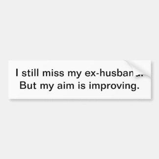 MIss my ex-husband - bumper sticker