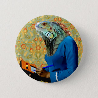 Miss Myers - Iguana: Pinback Button