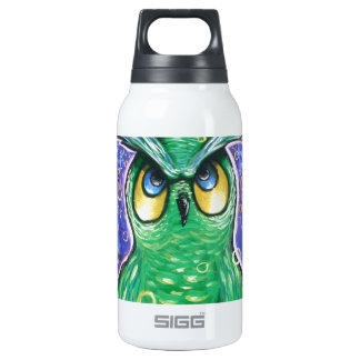 Miss Mystic Green Owl. Insulated Water Bottle