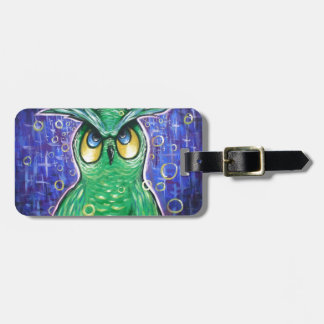 Miss Mystic Green Owl. Tag For Bags