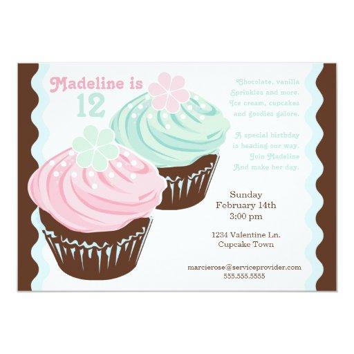 "Miss 'N Nick Popular Cupcake Invitation 5"" X 7"" Invitation Card"
