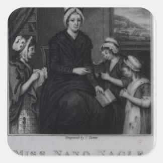 Miss Nano Nagle, 1809 Square Sticker