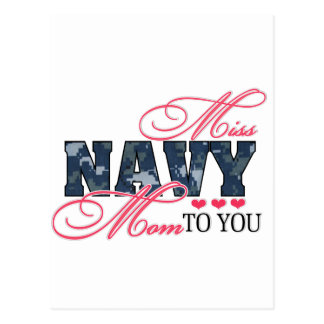 Miss Navy Mom Postcard