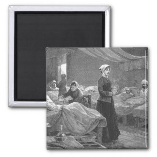 Miss Nightingale in the Barrack Hospital 2 Inch Square Magnet