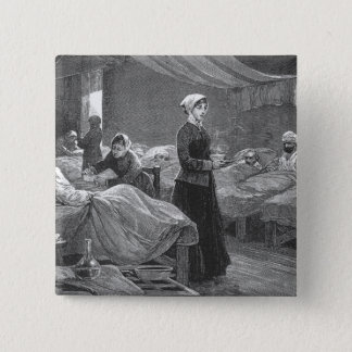 Miss Nightingale in the Barrack Hospital Button