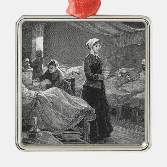 Miss Nightingale in the Barrack Hospital Metal Ornament