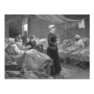 Miss Nightingale in the Barrack Hospital Postcard