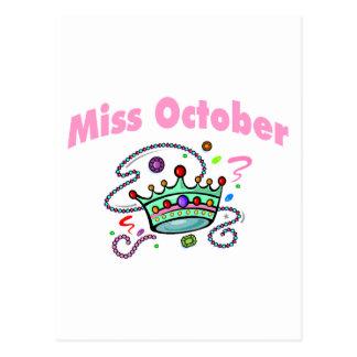 Miss October (2) Postcard