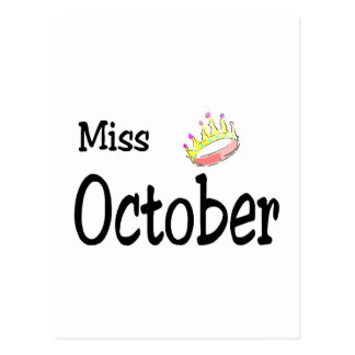 Miss October Postcard