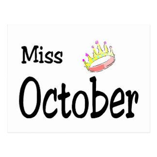 Miss October Post Card