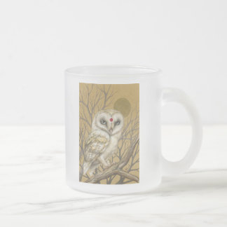 Miss Owl Frosted Glass Coffee Mug