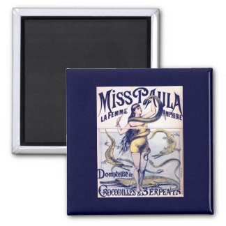 Miss Paula Circus Poster Print Magnet