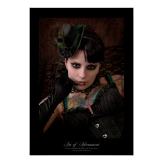 Miss Peacock - Print