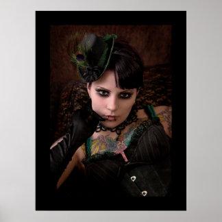 Miss Peacock - Print (Plain Border)