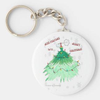 Miss Perfume Says Merry Christmas! Keychain
