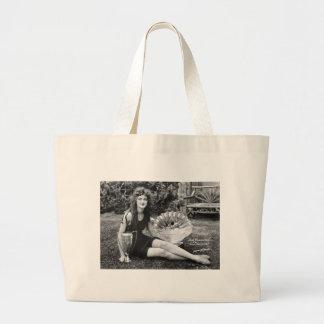 Miss Philadelphia, early 1900s Large Tote Bag